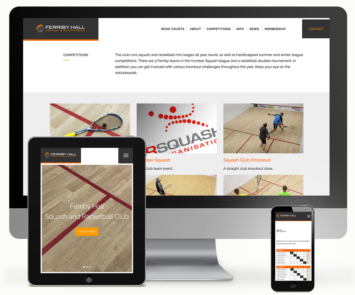 Ferriby Squash and Racketball Website