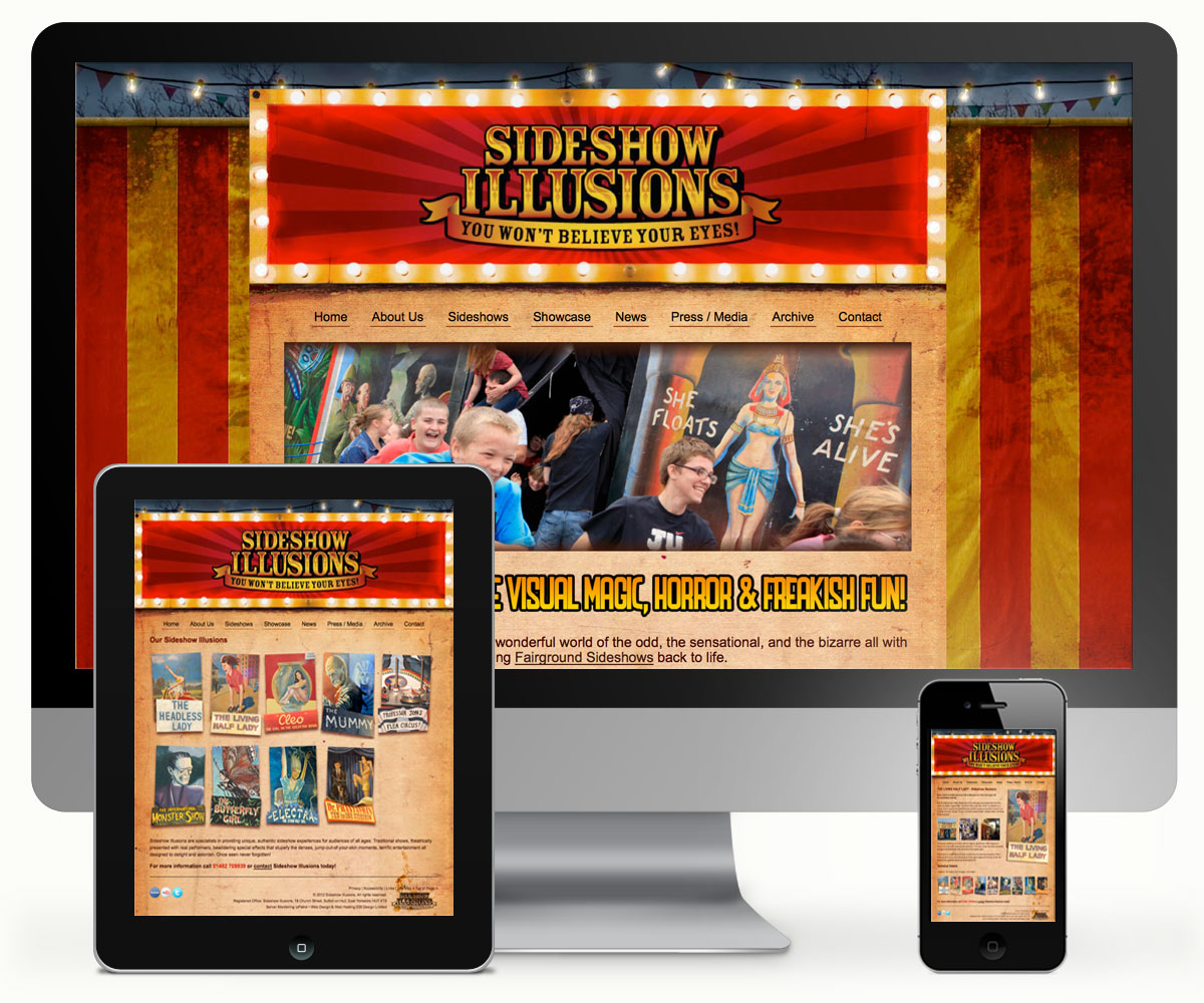 Sideshow Illusions Website